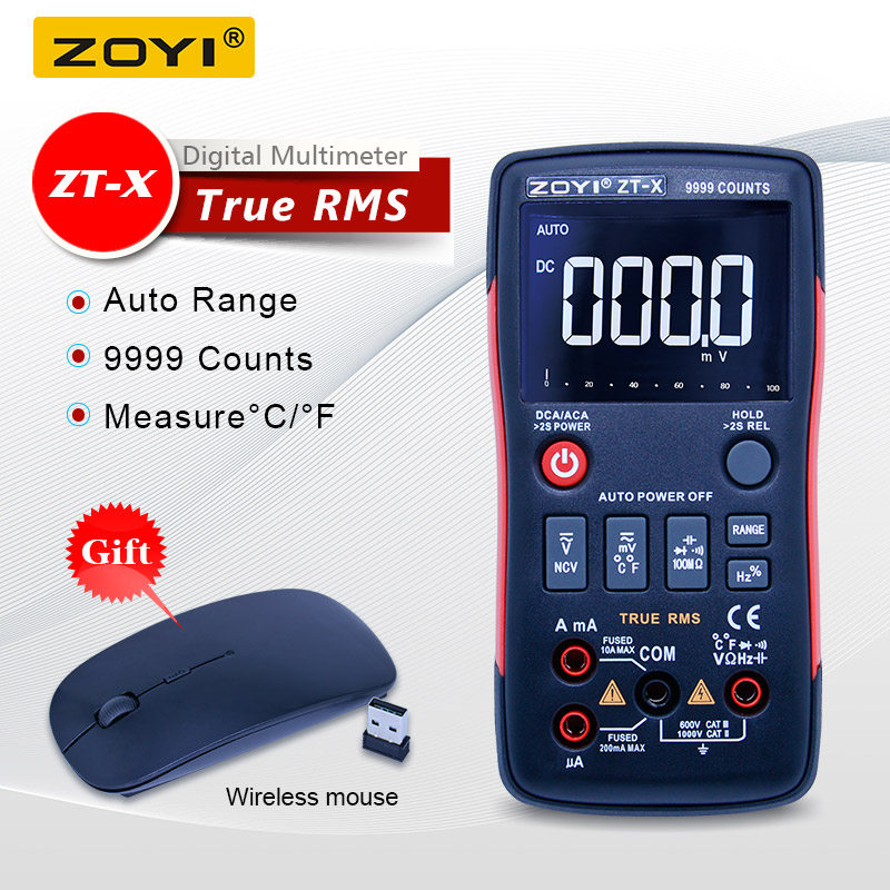 ZOYI ZT-X цифровой дисплей мультиметр ac dc Вольтметр true rms Авто Диапазон мультиметр с НТС тесты удержания данных ЖК-дисплей подсветка