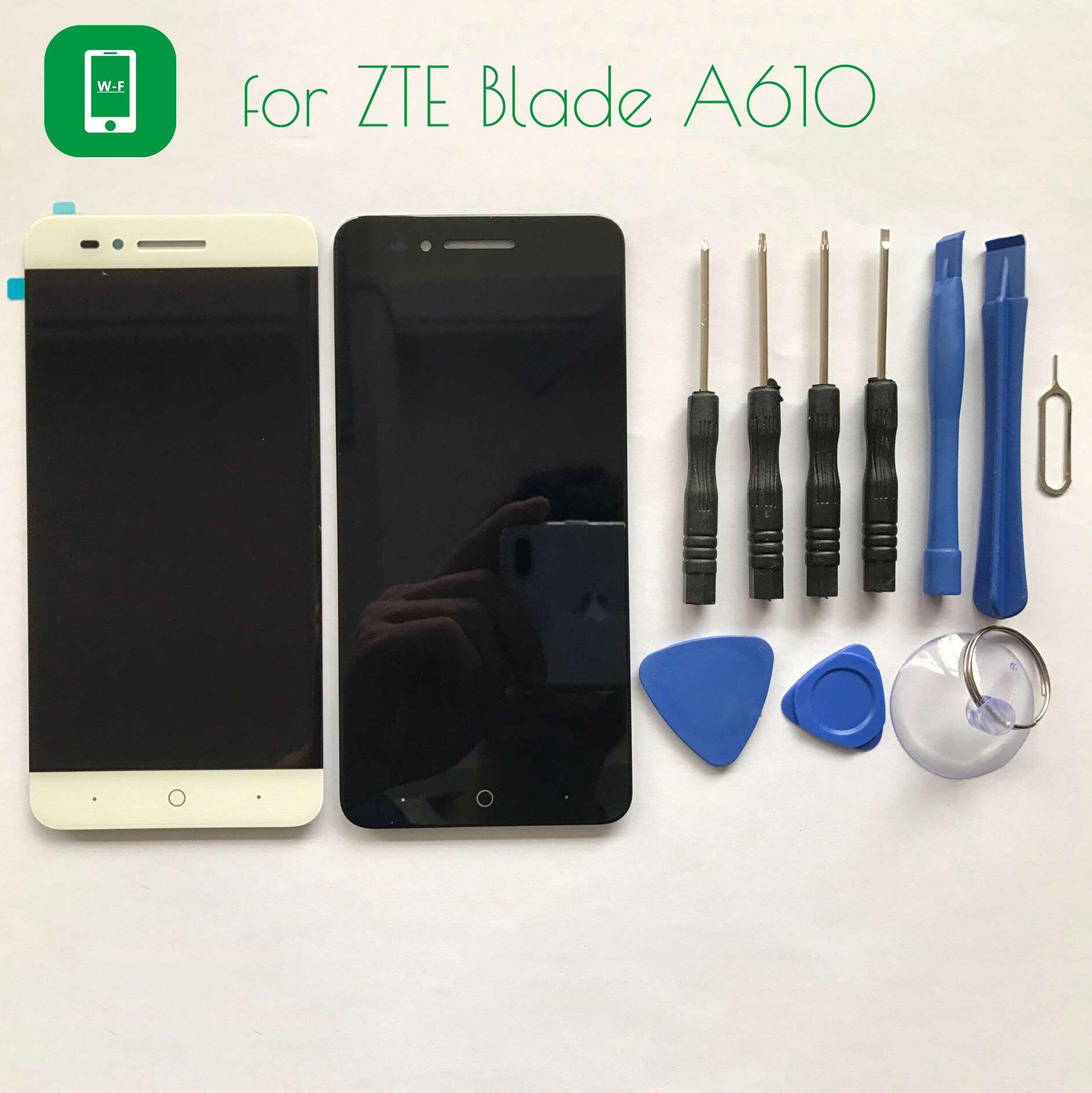 Para zte blade a610 pantalla lcd + pantalla táctil con panel de vidrio herramien