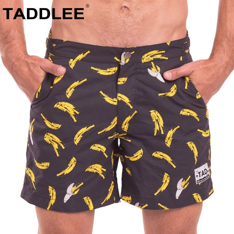 Taddlee brand Men's Swimwear Swimsuits Boxer Trunks Surf Beach   Board     Shorts   Quick Drying Bermuda Men Bottoms Boardshorts