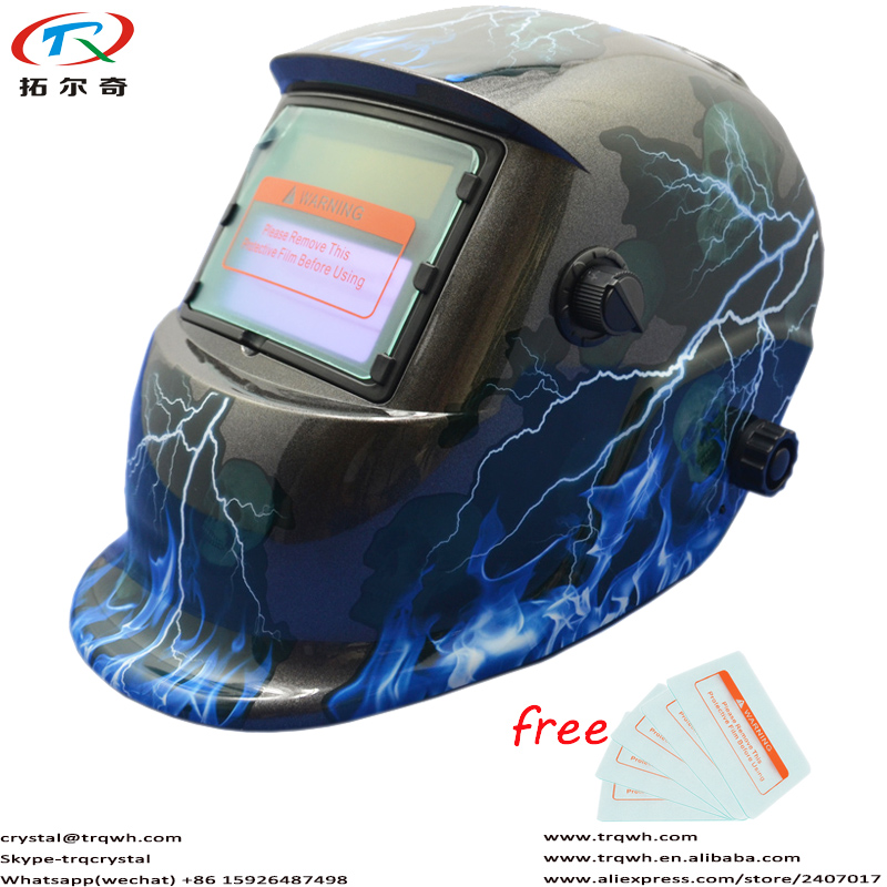 Chameleon Mask Welding Machine Parts Welding Equipment Eyes And Full Face Protection Auto Darkening CE Approved TRQ-HD41-2200DE