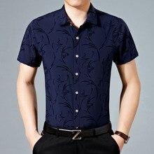 Лето Весна Новая мужская рубашка с короткими рукавами, мужская рубашка тонкая модная мужская рубашка Размер XL 2XL 3XL