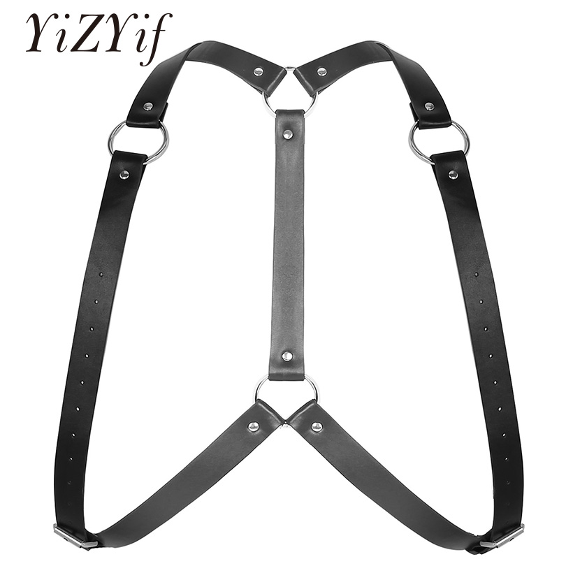 Detail Feedback Questions about YiZYiF Sexy Harness Men Bondage Body Chest  Shoulder Harness Belt Adjustable PU Leather Y Shape Mens Lingerie fetish  Harness ...