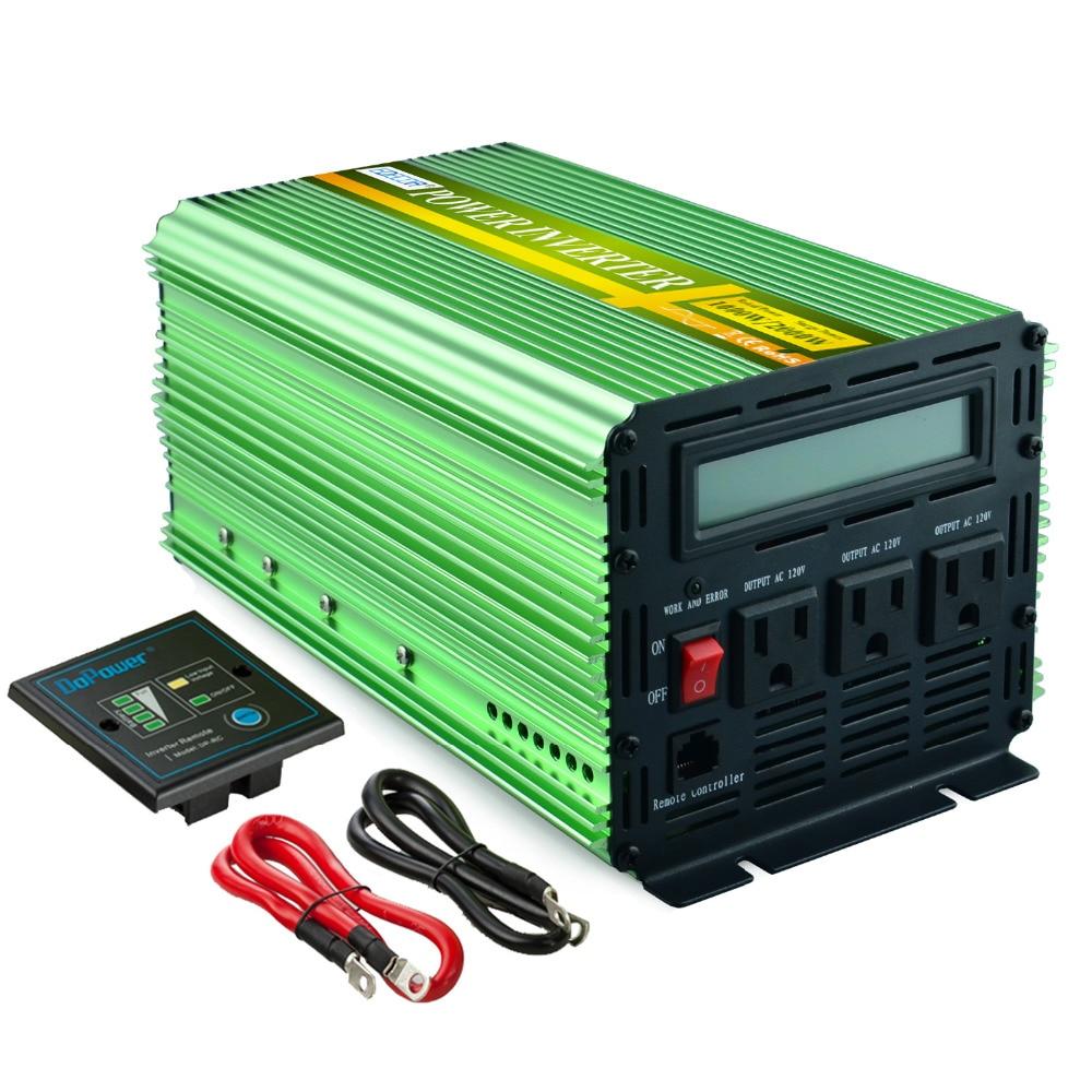 US standard power inverter 12v 110v 120v 1000W 60Hz LCD inverter pure sine wave with remote controller 1000w pure sine wave power inverter with lcd
