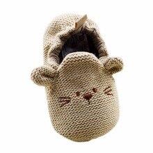 Младенческая Малышей Детские Трикотажные Милый Мыши Детская Кровать В Обуви Новорожденных Мальчик в Девочке Мультфильм Первые Ходунки 0-18 M
