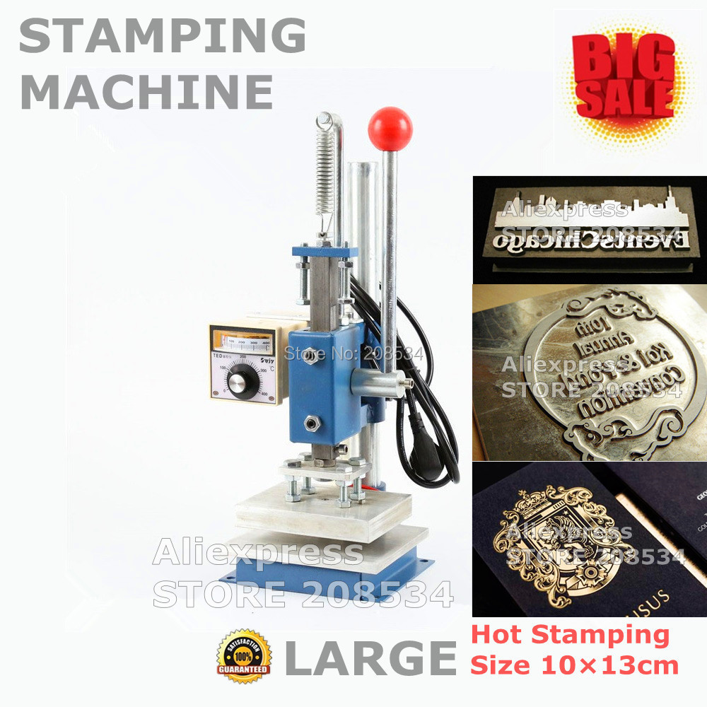 Manual Hot Foil Metal Stamping Machine Press Golden  10X13CM