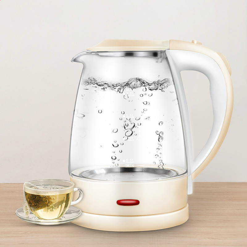 все цены на Electric kettle Glass electric stainless steel household automatic power failure 2L large capacity kettles