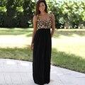 Lady Hot Mulheres Verão Boho Longa Maxi Evening Party Dress Praia Leopard Vestido de Verão