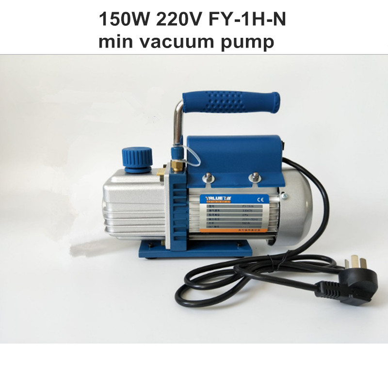 1L Rotary Vane Single Stage Mini Vacuum Pump for Air Conditioning FY-1H-N tw 4a single stage 4 l rotary vane type portable vacuum pump with a single stage