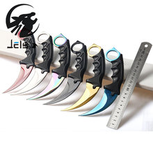 Jelbo Karambit Knife with Sheath 1PCS Outdoor Hunting Survival Tools Knife Outdoor Survival Hunting Tactical Combat Hand Tools