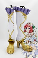 Anime Shoes Love Live Birthstone Maki Nishikino Cosplay Boots Shoes Halloween Carnival Cosplay Costume Accessories For