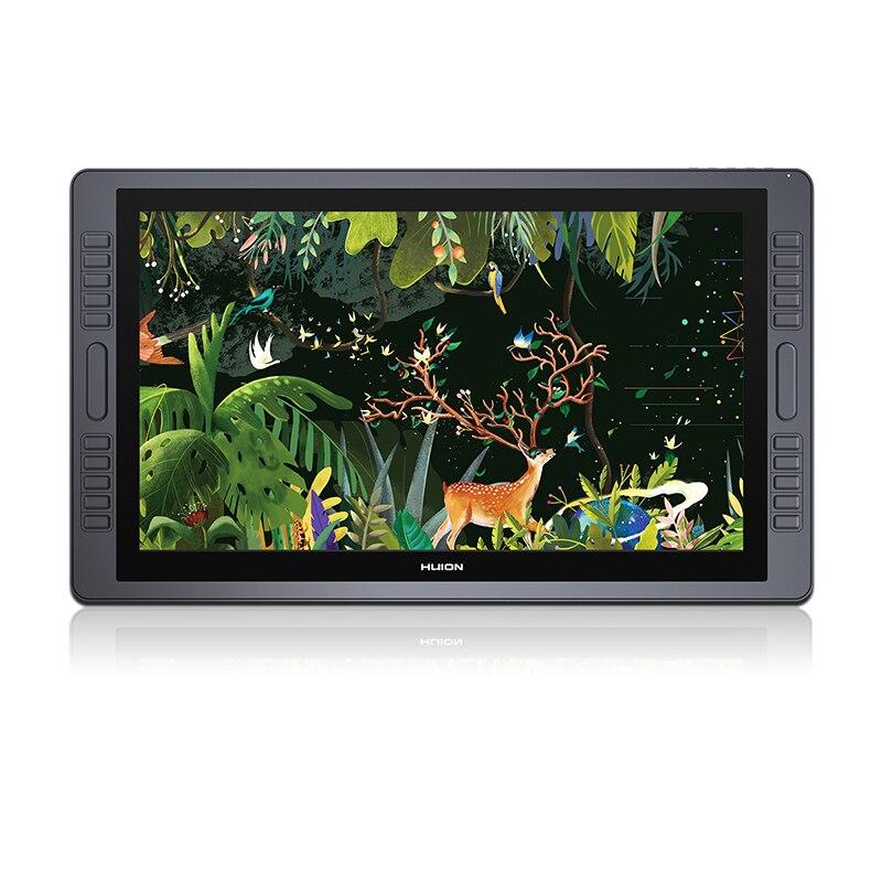 HUION kamvas gt-221 Pro 8192 уровней ручка Планшеты Мониторы IPS ЖК-дисплей HD рисунок пером Дисплей-21.5 Дюймов