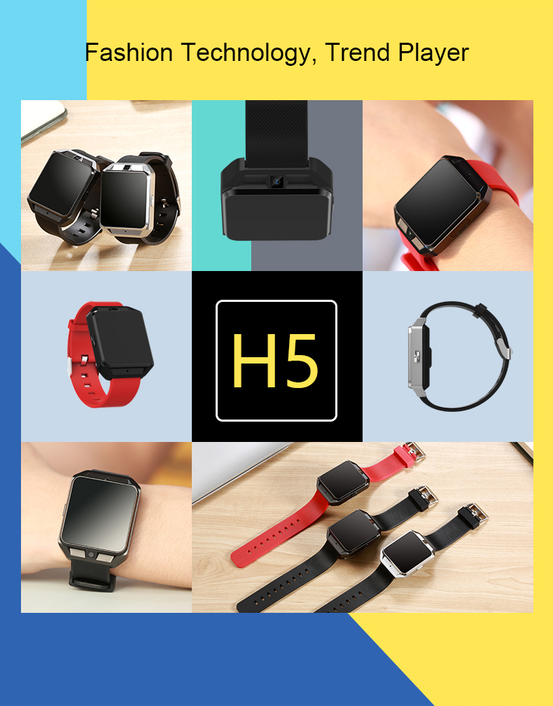4G Smart Watch H5 Android6.0 1GB/8GB MTK6737 Quad Core smartwatch 720mAh Heart Rate blood pressure Monitor PK Kw88 H5 for xiaomi