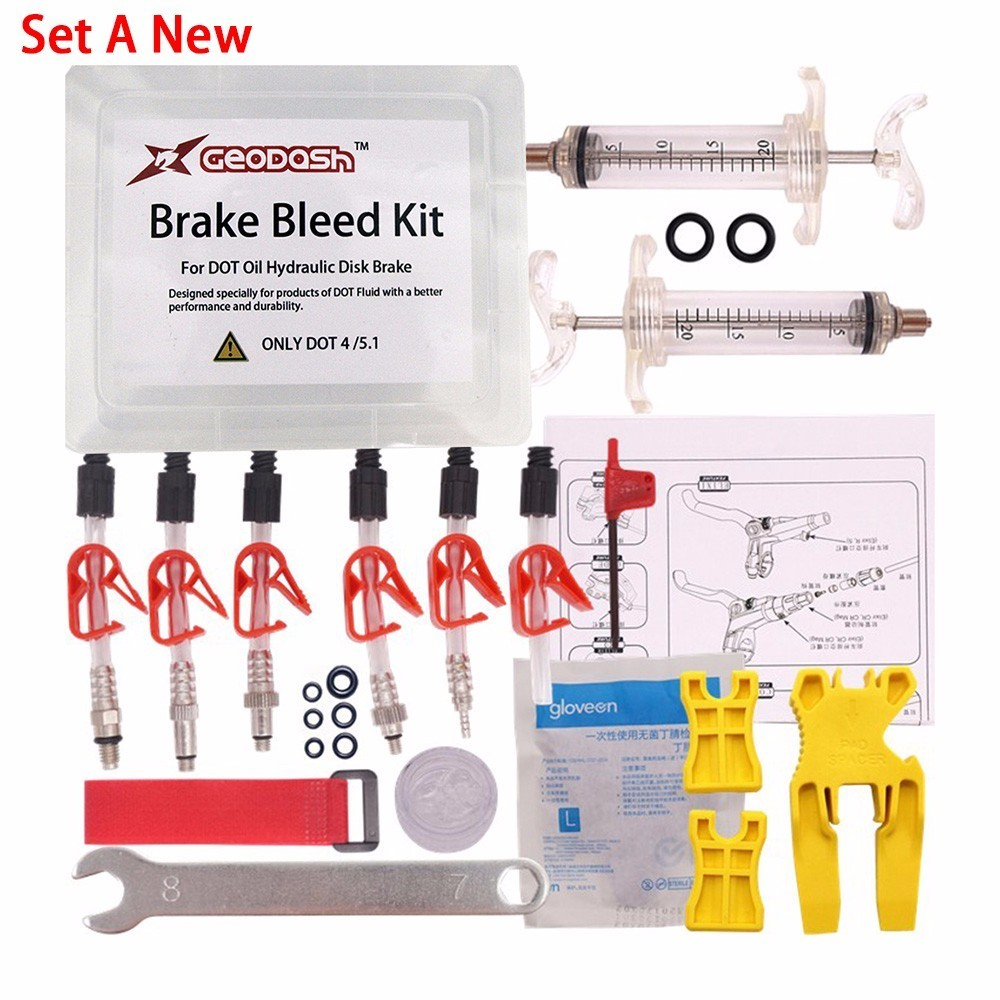 DOT Oil Disc Brake Bleed Kit AVID Sram Bike Bicycle tool for DODE JUICY HOPE BNGAL HAYES J3 J5 J7 Formula #440