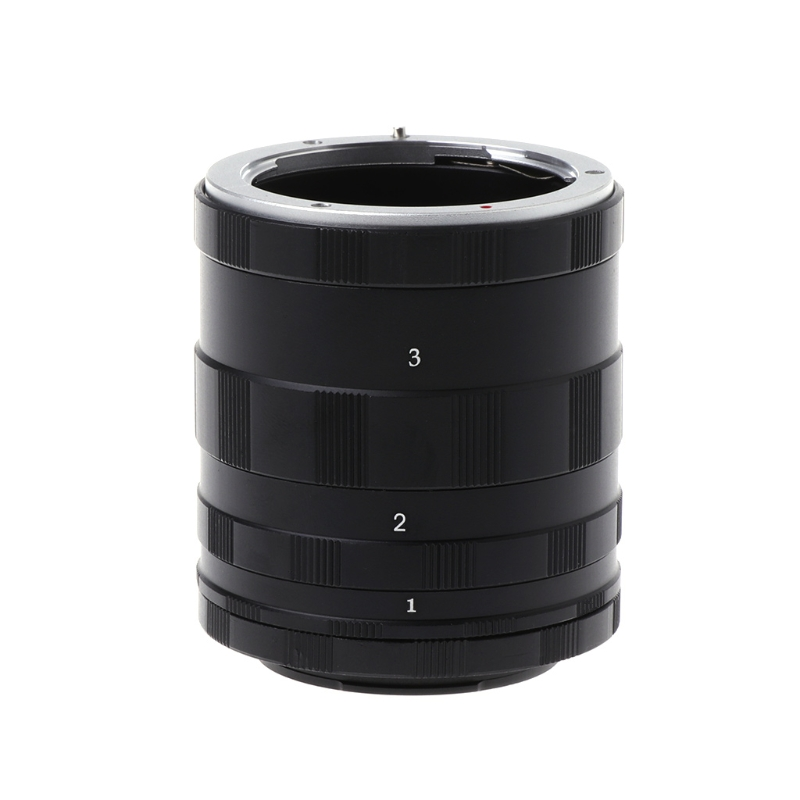 Macro Extension Tube Rings Set Manual Focus For Sony E Mount NEX Camera A7 A5100