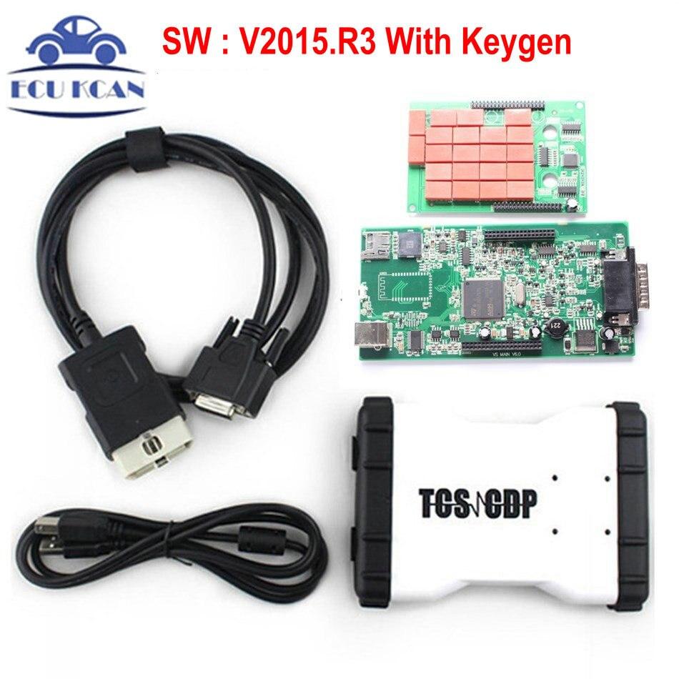 Цена за Ничуть TCS CDP Pro Plus 3in1 V2015 R3 с Keygen новый VCI как mvdiag инструмент диагностики CDP TCS сканер бесплатно Доставка