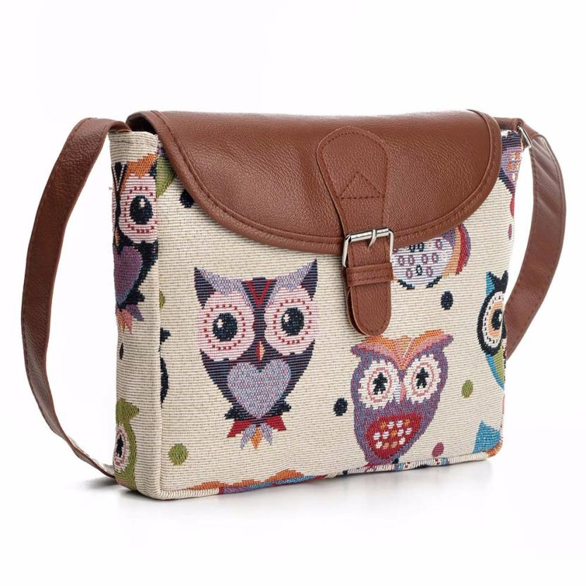 Owl Printed Women Handbag Satchel Bag Crossbody Tote Bag Shoulder Messenger Bag Ladies Purse Dropshipping Wholesale #T