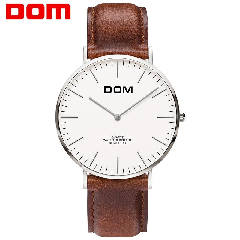 Burra Watches DOM lëkure kuarci orë dore markë e nxehtë e modës - Ora për meshkuj