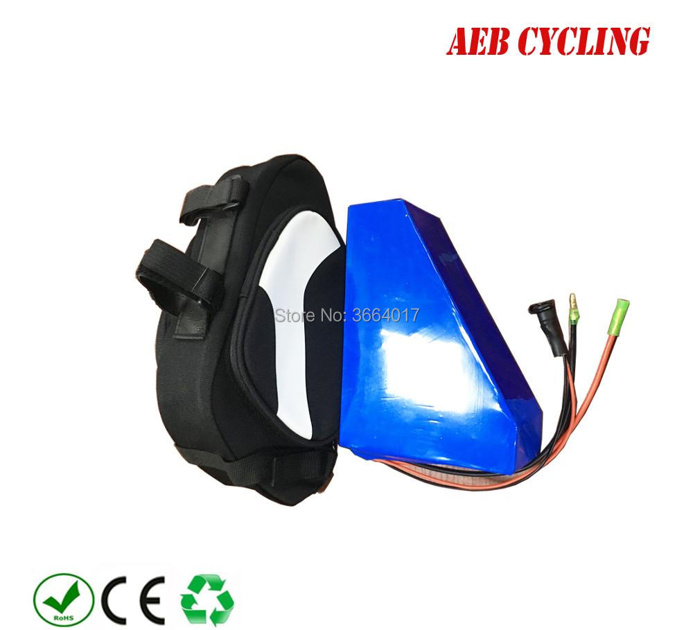 купить Free Shiping backup 36v 48v seat bag triangle battery 10ah 10.5ah 12ah 13ah 14ah 16ah 17ah for 250w 350w 500w motor battery по цене 11119.63 рублей