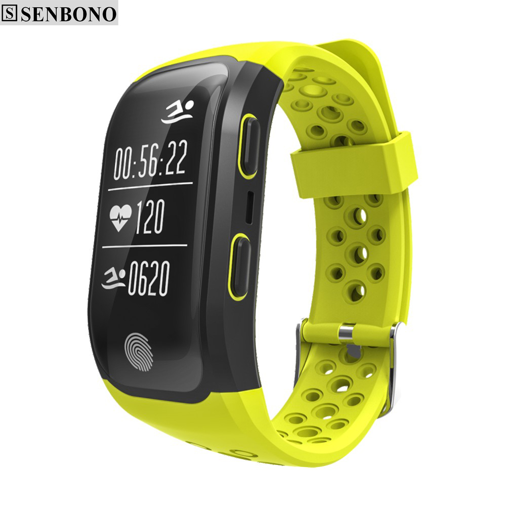 SENBONO S908 Bluetooth GPS Tracker Wristband IP68 Waterproof Smart Bracelet Heart Rate Monitor Fitness Tracker Smart