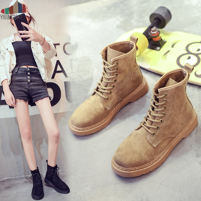 2018 New autumn Fashion ankle Boot Women Shoes for Lady Genuine Leather Boots White Military motorcycle Boots Breathable zapatillas de moda 2019 hombre