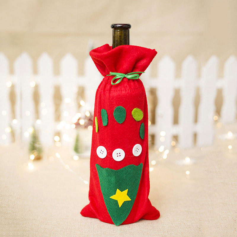 New Christmas Wine Bottle Cover Santa Claus Xmas Christmas Decorations For Home Natal Dinner Decor New Year Gift