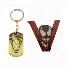 RJ Hot Avengers 3 Venom V Letter Mask Logo Keychains Pendants High