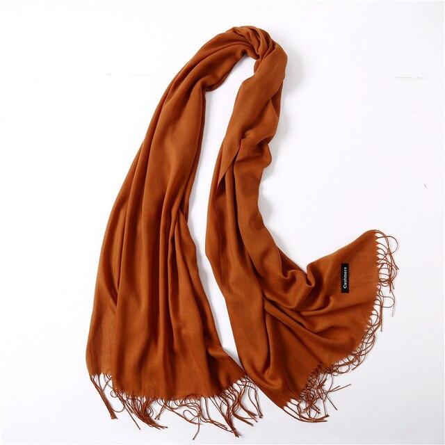 Fashion summer thin solid shawls and wraps long foulard head scarves 3
