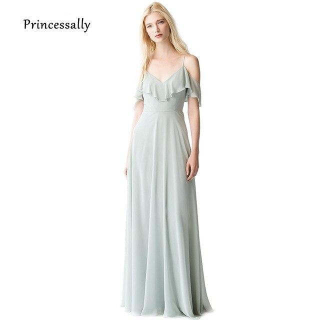 Vestido De Noiva Neue Lange Elegante Brautjungfer Kleid Chiffon ...