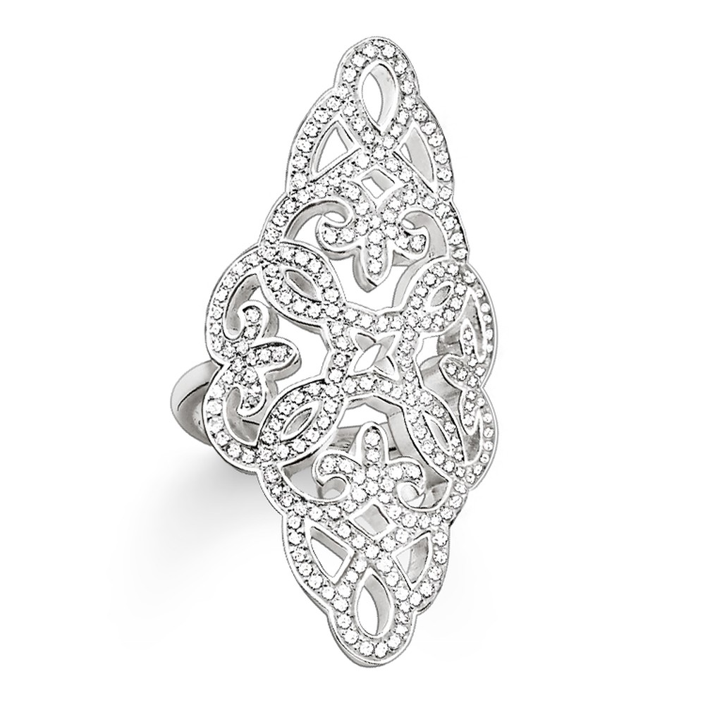 ⃝Muffiy marca de plata de color ZIRCON cúbico blanco Arabesque ...