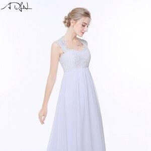 Image 5 - ADLN Elegant Chiffon Beach Wedding Dresses Simple Empire Sweep Train Open Back Boho Plus Size Bridal Gown for Pregnant Woman