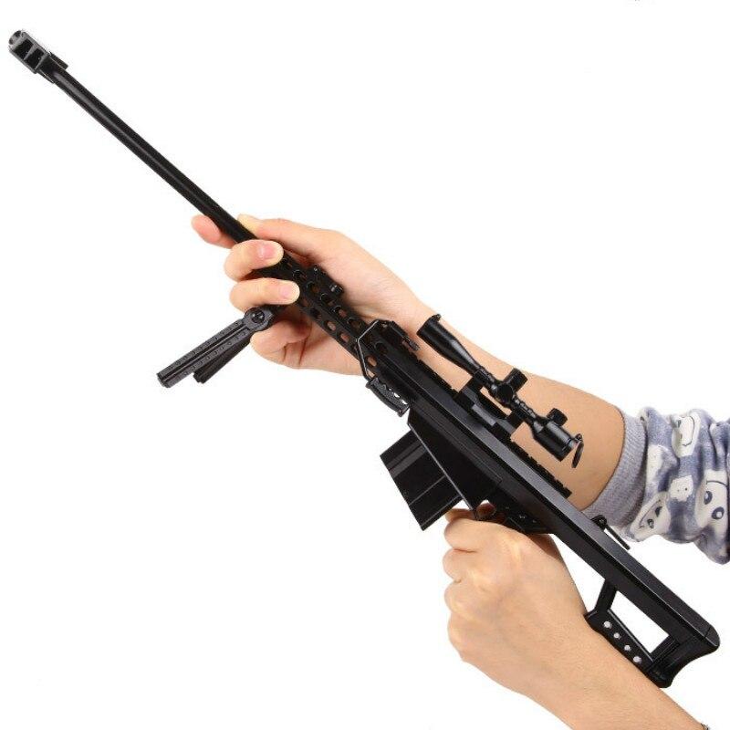 50cm barrett metal toy gun toy sniper rifle arma de brinquedo armas...
