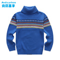 2014 autumn 100% cotton boy child pullover sweater basic turtleneck shirt child sweater