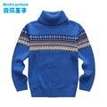 Outono 100% algodão gola pullover criança camisola criança