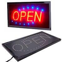 """Nowe błyszczące animowane ruchy Neon LED sklep sklep wywieszka z napisem """"open"""" z przełącznikiem US plug w Oświetlenie reklamowe od Lampy i oświetlenie na"""