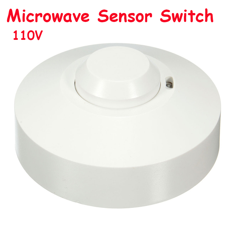 New arraive! AC110V 5.8GHz 360 Degree Time Setting Microwave Sensor Radar Body Sensor Motion HF Detector Light Switch freeshipping 5 8ghz hf systerm led microwave 360 degree radar sensor light switch ceiling light occupancy body motion detector