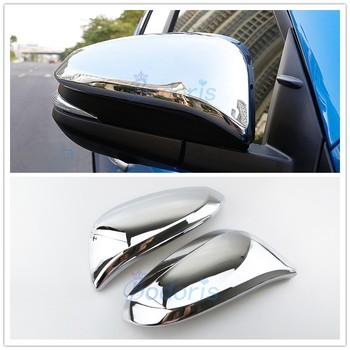 Accessories For Toyota Fortuner SW4 2016 2017 2018 Door Mirror Overlay Cover Garnish Trim Chrome Car Styling image