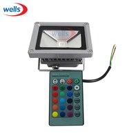 10W RGB Waterproof LED Outdoor Flood Light Multicolor 24key IR Remote 85 265V