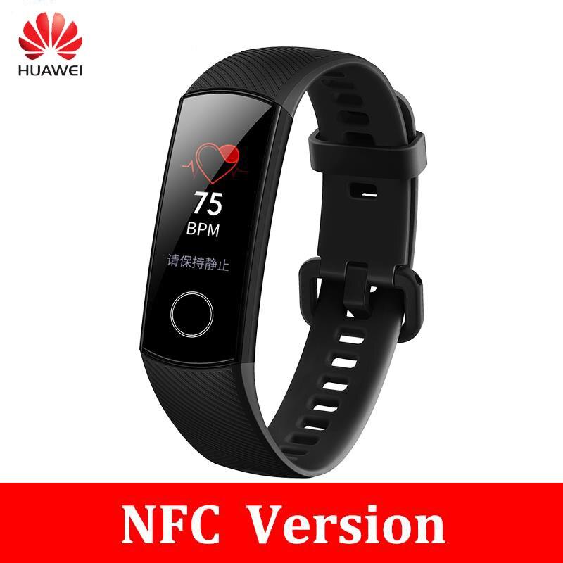 Originale Huawei Honor Fascia 4 Nfc versione di Smart Braccialetto 50 m Impermeabile di Colore ouch schermo Frequenza Cardiaca Sonno Snap Smart wristband