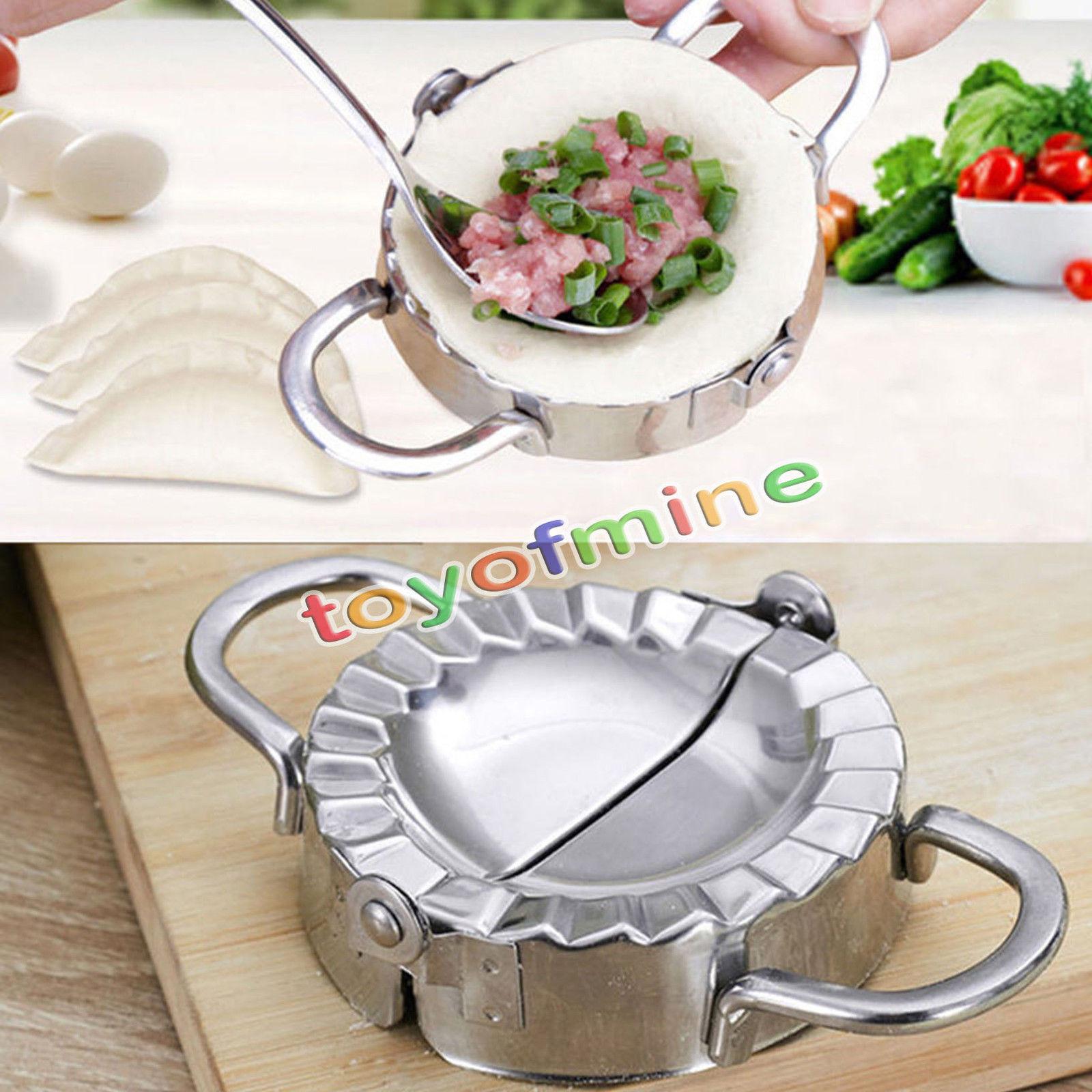 New eco friendly pastry tools stainless steel dumpling maker wraper dough cutter pie ravioli dumpling mould kitchen accessories