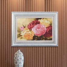 Needlework,DMC DIY Cross stitch,Embroidery kit set,Peony floral Flower Cross-Stitch painting wedding Wholesale