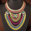 collier femme maxi necklace 2016 collares statement Bohemia choker statement joyeria jewelry women femme colares Circle gold 99