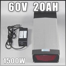 Задняя стойка 60 V 20Ah литий-ионный 60 V электрический скутер EBike аккумулятор с светодиодный usb-портом для 60 V 1000 W двигателя