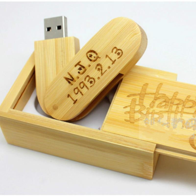 20 pics free logo usb flash drive 4G wooden creative gift 8G pendrive wood 16G pendrive 32G u disk USB2.0 flash drive