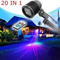 20 IN 1 RGB Outdoor Waterproof Christmas Laser Light Projector Dots Effect Garden Home Xmas Tree Landscape Show Lighting