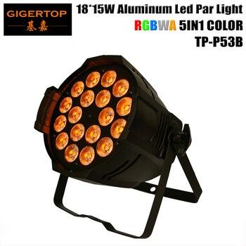 TIPTOP TP-P53B 270 Вт 18x15 Вт алюминиевые светодиодные Par Банки Tyanshine RGBWA 5в1 светодиоды черный/белый корпус опционально 5CH/9CH DMX канал