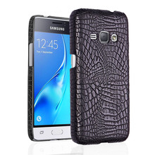For Samsung J1 2016 J120F Case Quality PC Crocodile Grain Back Cover Hard for Galaxy J120 J120H SM-J120F