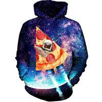 2017 FASHION MEN WOMEN Starry sky Pizza rockets HOODIE 3D Hoodie Sweatshirts Pullovers Autumn Tracksuit Winter Loose Thin Hoody