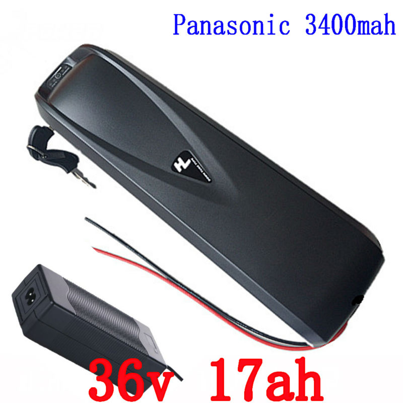 Hailong battery 36V 17AH lithium Battery for Electric Bikes 36V Bottle Battery Pack use Panasonic cell with BMS and 2A Charger free shipping lithium battery pack 48v 29ah 2000w use for panasonic 18650 cell with 2a charger 50a bms electric bike battery