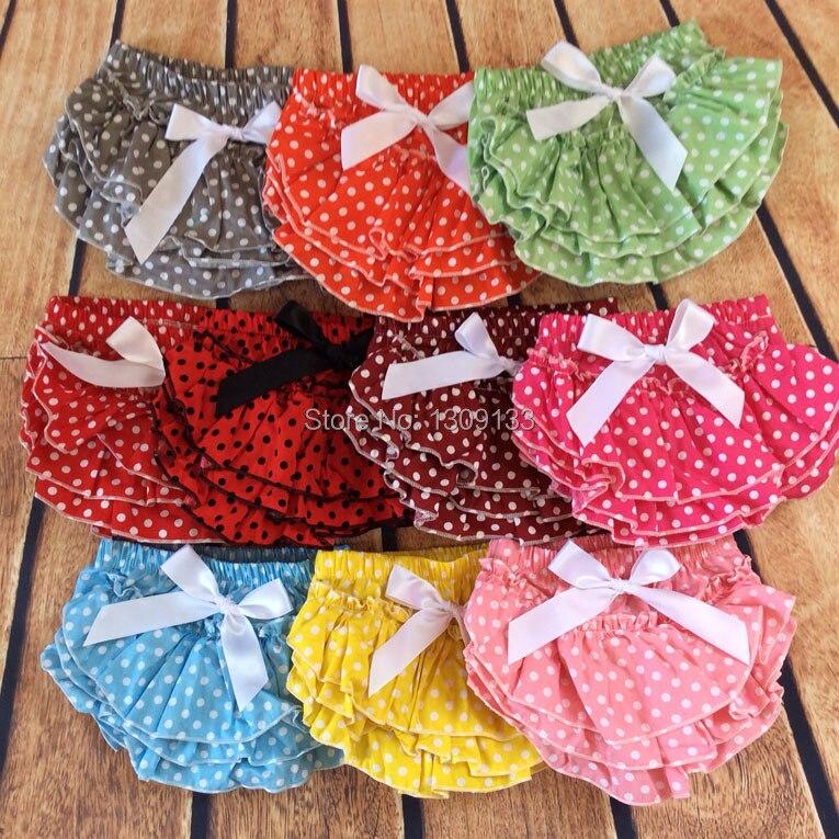 Polka Dot Meninas do bebê Bolo de Aniversário Quebra Foto Prop Presente Do Chuveiro de Bebê Ruffle Bloomers Diaper Covers Bloomer Meninas BowKnot Roupas