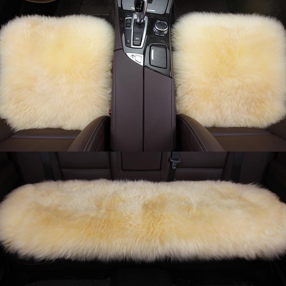 Karcle 1 UNIDS Fundas de Asiento de Coche de Lana Piel de Oveja - Accesorios de interior de coche - foto 6